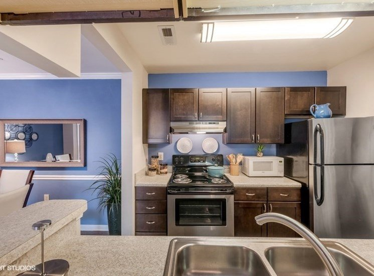 Eat-In Kitchen Table With Sink at Brittany Commons Apartments, Spotsylvania, VA